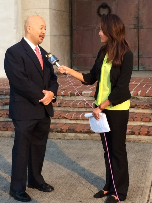 Council Chair Ernie Martin was interviewed by KITV's Nana Ohkawa on the morning news regarding the long overdue Meheula Parkway and Anania Drive repaving.