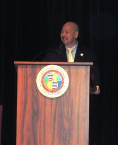 Council Chair Ernest Martin was the emcee for the Sexual Assault Awareness Month Proclamation and Certificate Ceremony.