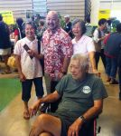 Gima ohana and friend with Council Chair Ernie Martin.