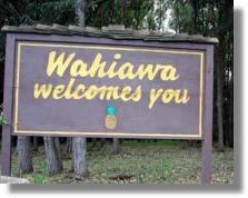 Wahiawa Welcome Sign