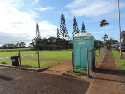 Money was allocated for the planning and design of a comfort station at Kahi Kani Neighborhood Park to replace this temporary facility.