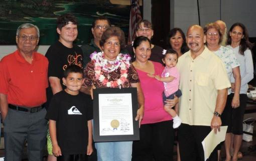 Council Chair Ernie Martin and the North Shore Neighborhood Board thank Kathy Vega for her years of service to our community and wish her the best on her retirement.
